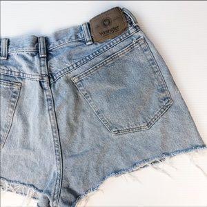 Wrangler   Vintage High Rise Denim Shorts